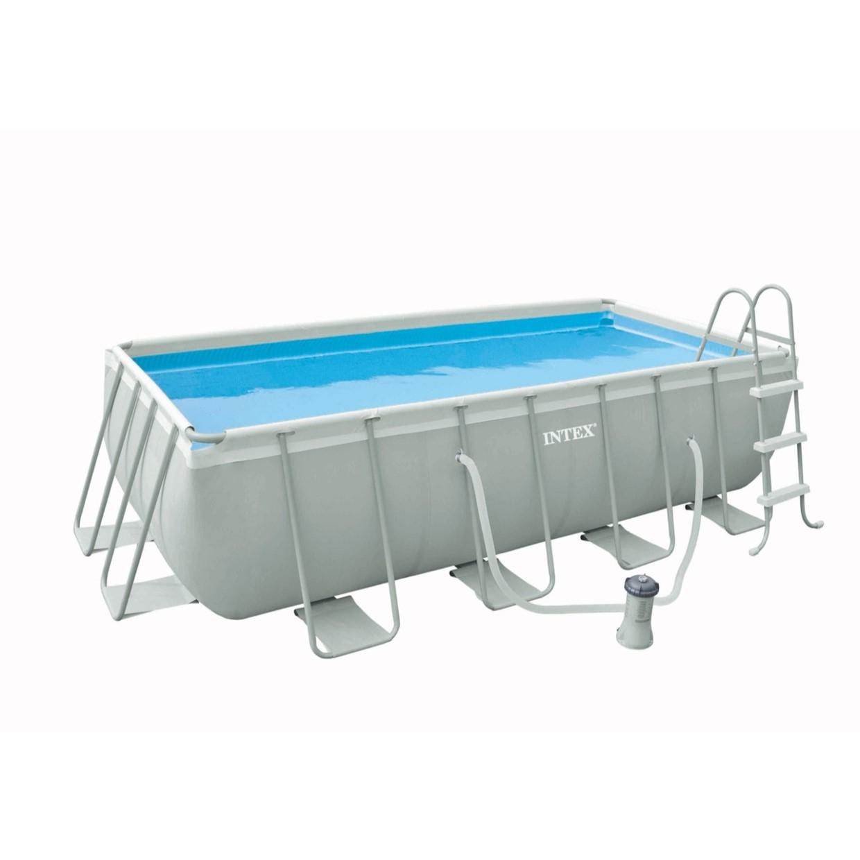 Intex zwembad 400 x 200 lift voor gebruikte auto for Rechthoekig zwembad met pomp