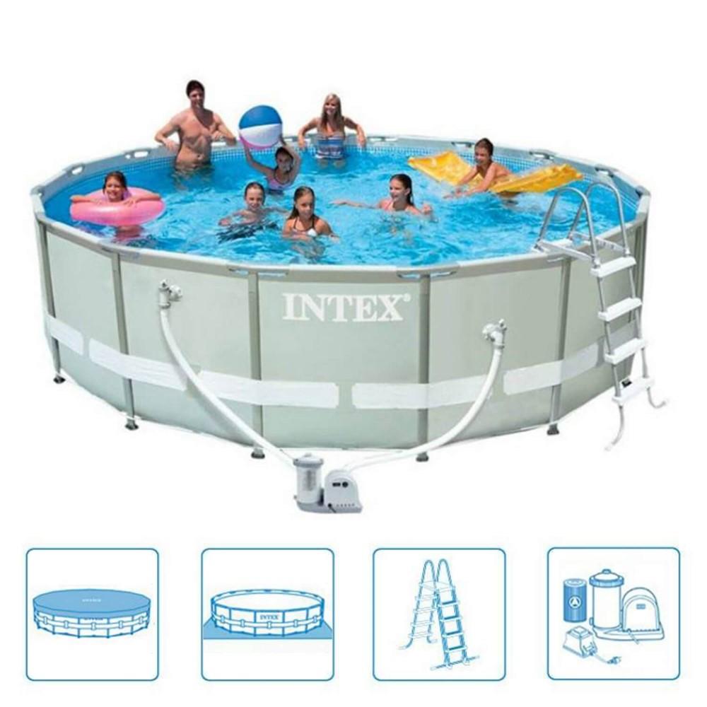 Intex zwembad rond ultra frame pool 488 x 122 cm prijzen vergelijken - Rond het zwembad ...