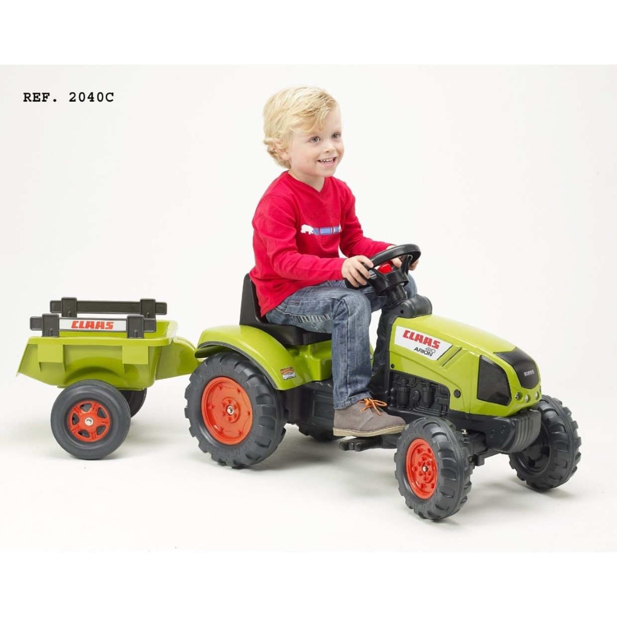 falk tractor met trailer claas arion 410 de boer speelgoed. Black Bedroom Furniture Sets. Home Design Ideas